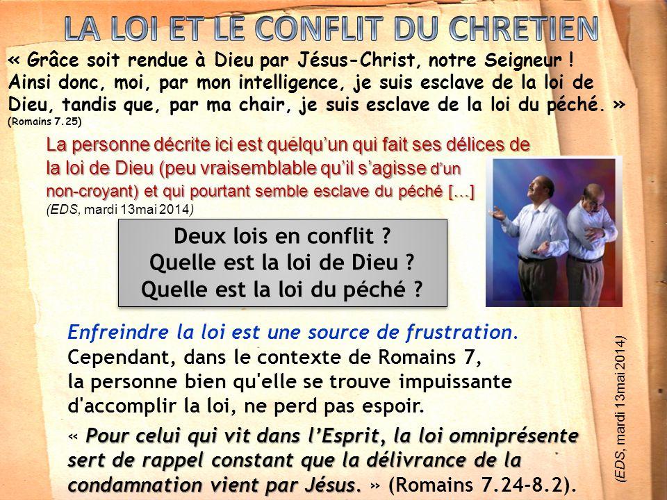 « Grâce soit rendue à Dieu par Jésus-Christ, notre Seigneur .