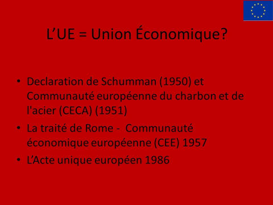 LUE = Union Économique.