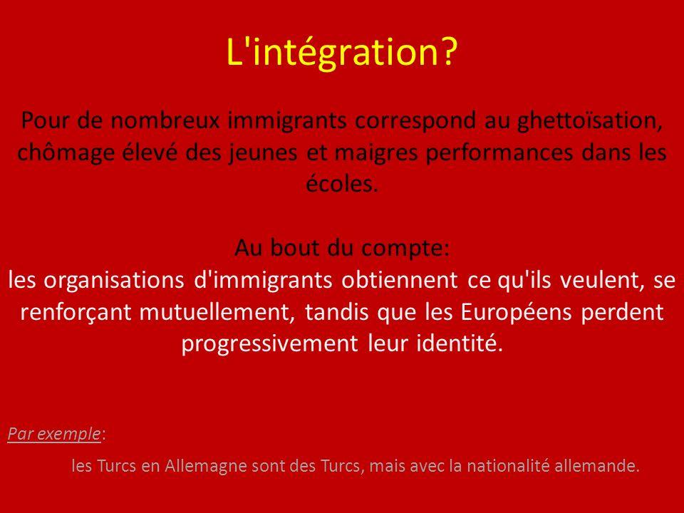 L intégration.