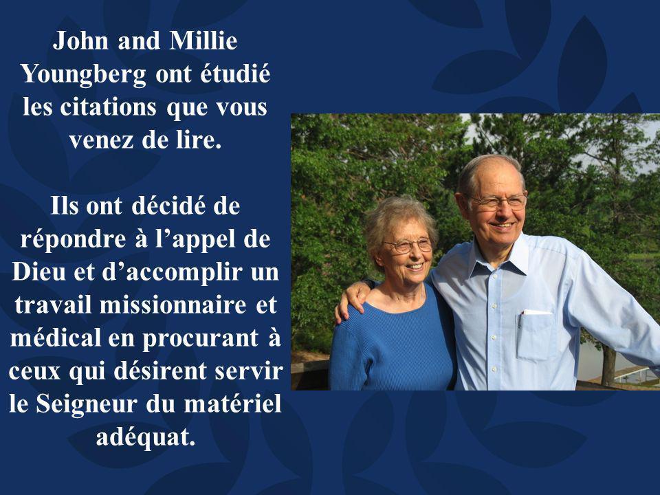 John and Millie Youngberg ont étudié les citations que vous venez de lire.