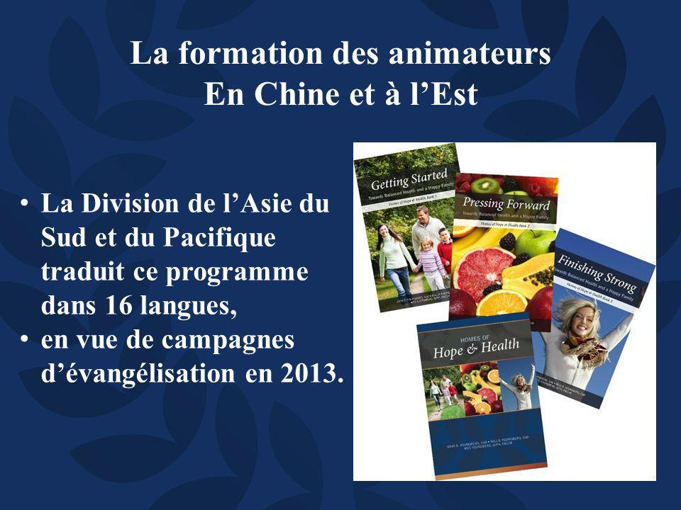 La Division de lAsie du Sud et du Pacifique traduit ce programme dans 16 langues, en vue de campagnes dévangélisation en 2013.