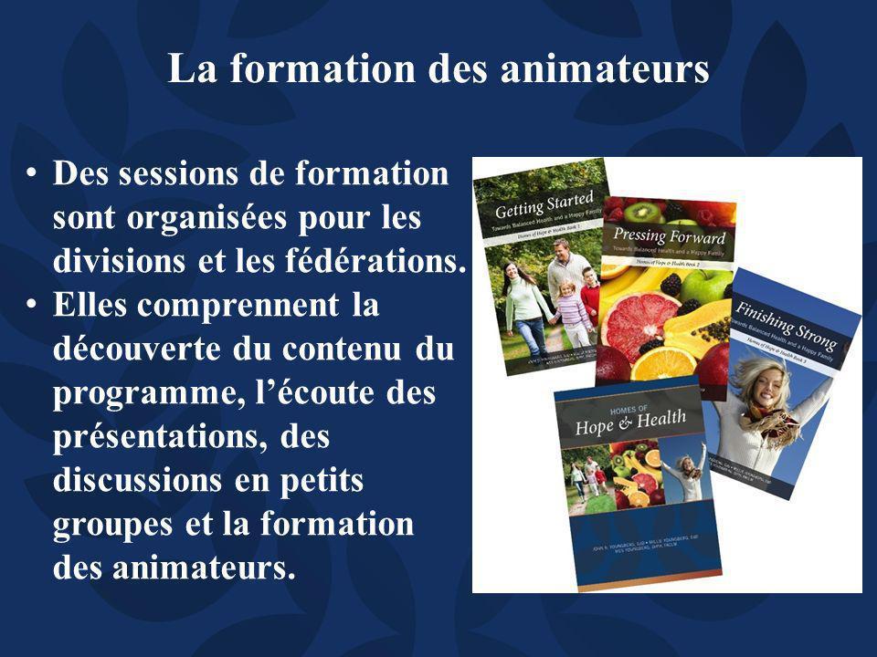 Des sessions de formation sont organisées pour les divisions et les fédérations.