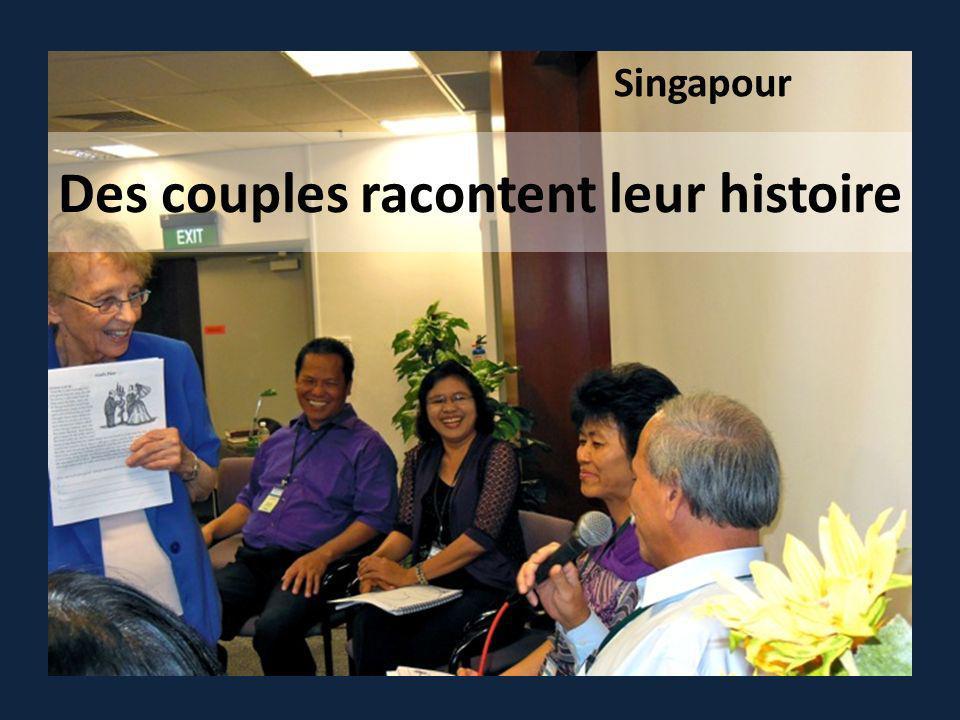 Des couples racontent leur histoire Singapour