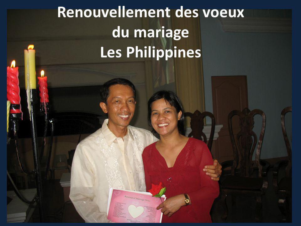 Renouvellement des voeux du mariage Les Philippines