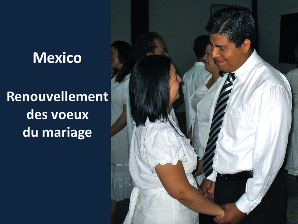 Mexico Renouvellement des voeux du mariage