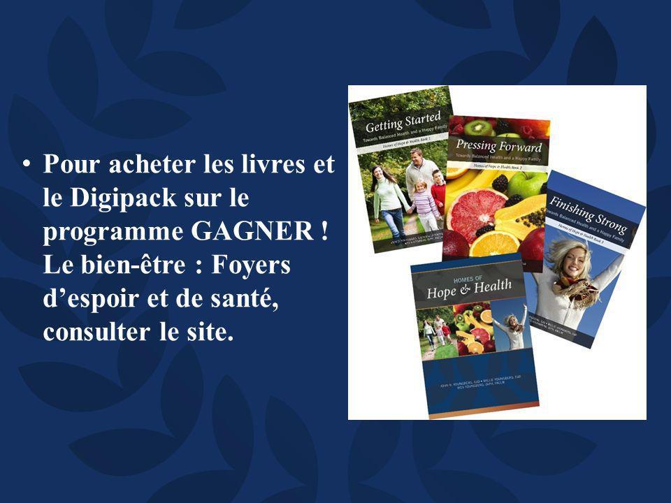 Pour acheter les livres et le Digipack sur le programme GAGNER .