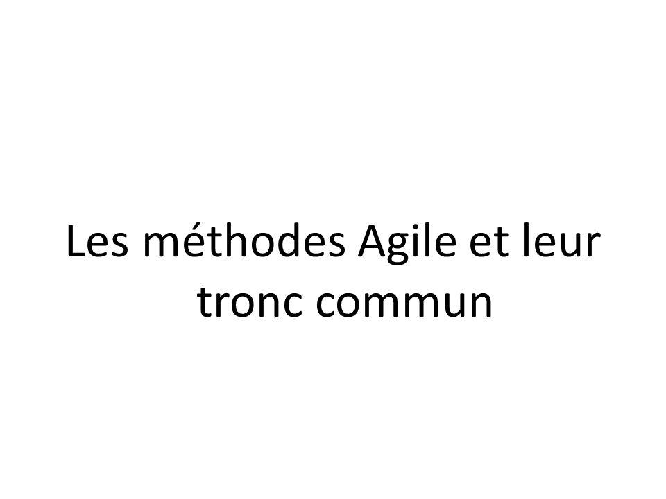 Les méthodes Agile et leur tronc commun