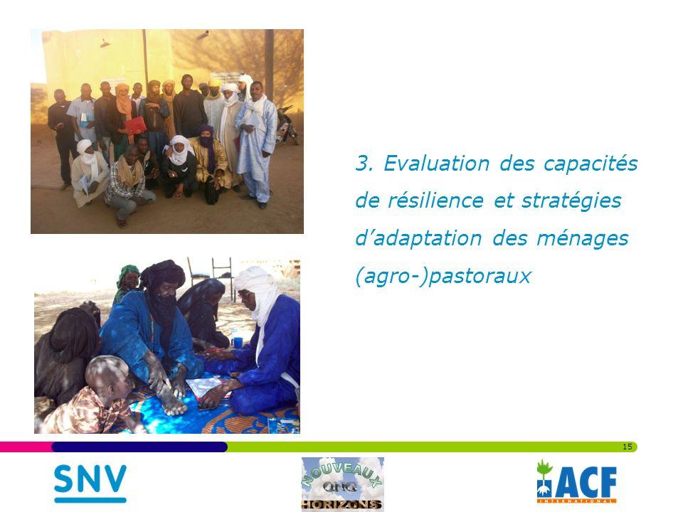 3. Evaluation des capacités de résilience et stratégies dadaptation des ménages (agro-)pastoraux 15