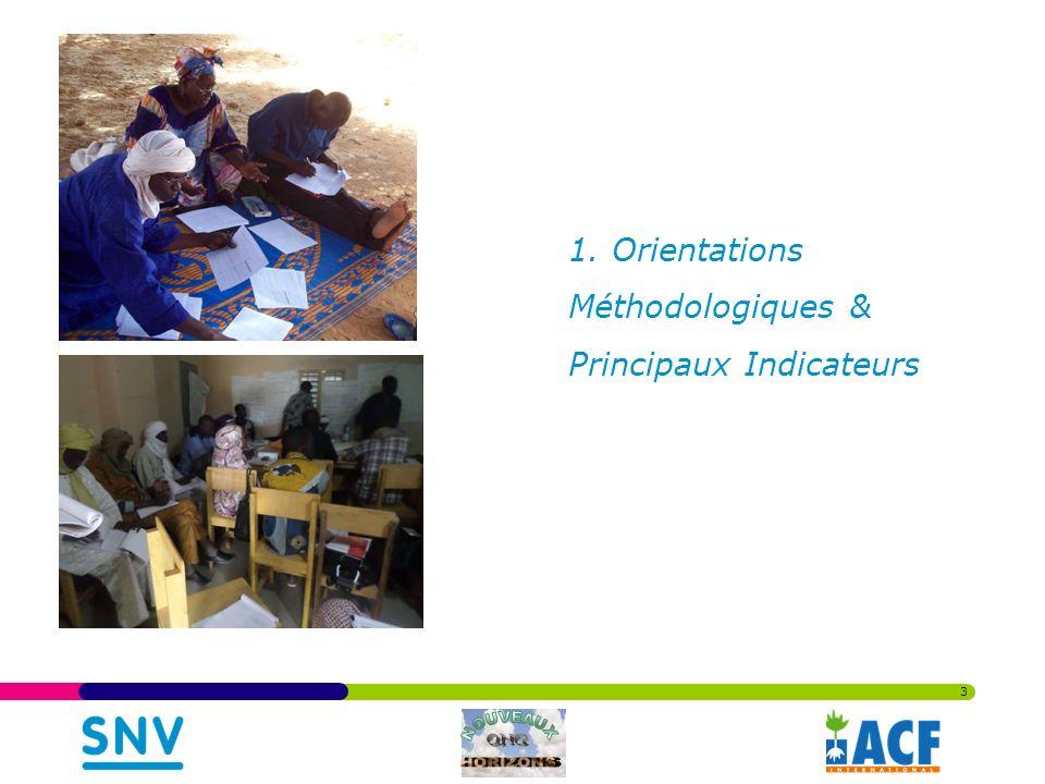 1. Orientations Méthodologiques & Principaux Indicateurs 3