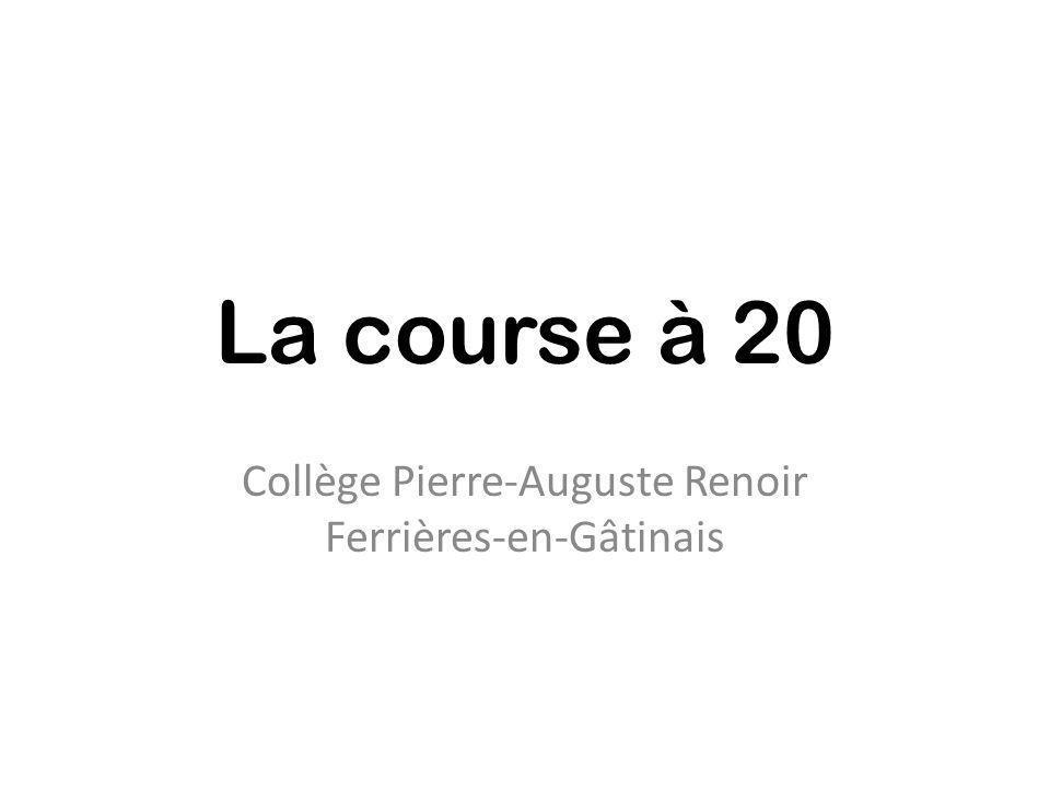 La course à 20 Collège Pierre-Auguste Renoir Ferrières-en-Gâtinais