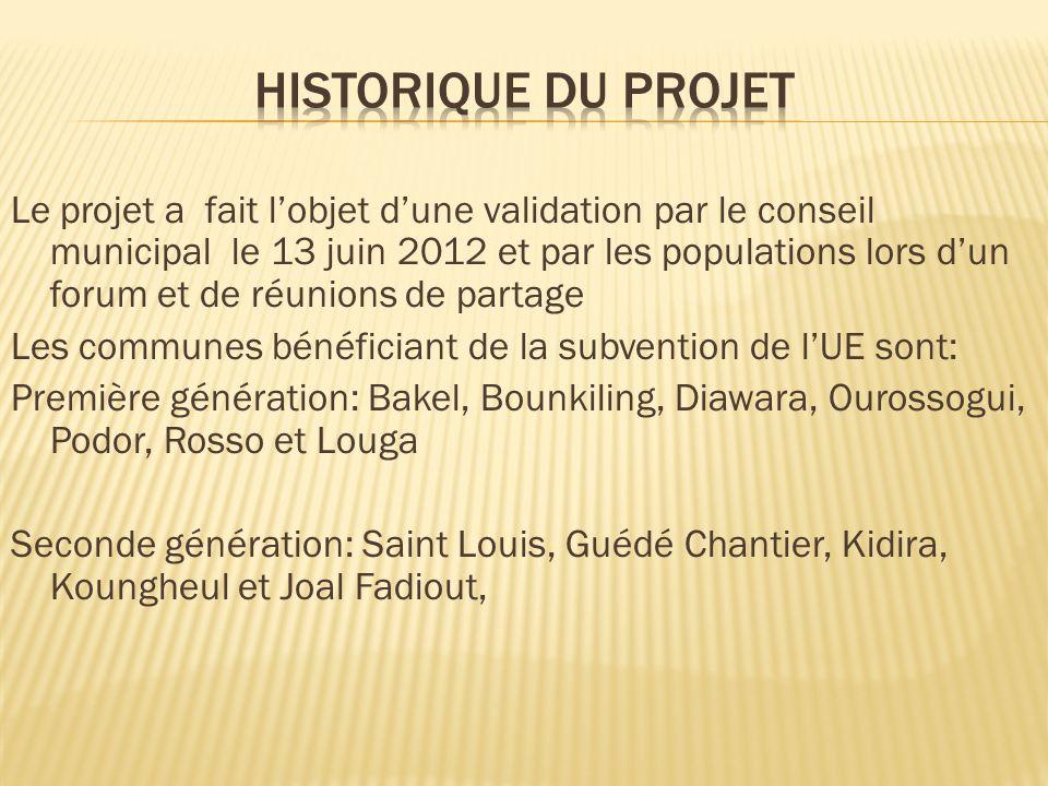 Le coût du projet est de 118 332 EUR soit 77 621 104 F CFA, réparti entre les contributeurs comme suit : Union Européenne 100 000 EUR, soit 65 595 700 F CFA ; Mairie de Kidira 13 454 EUR, soit 8 825 404 F CFA ; GRDR 4 878 EUR, soit 3 200 000 F CFA.