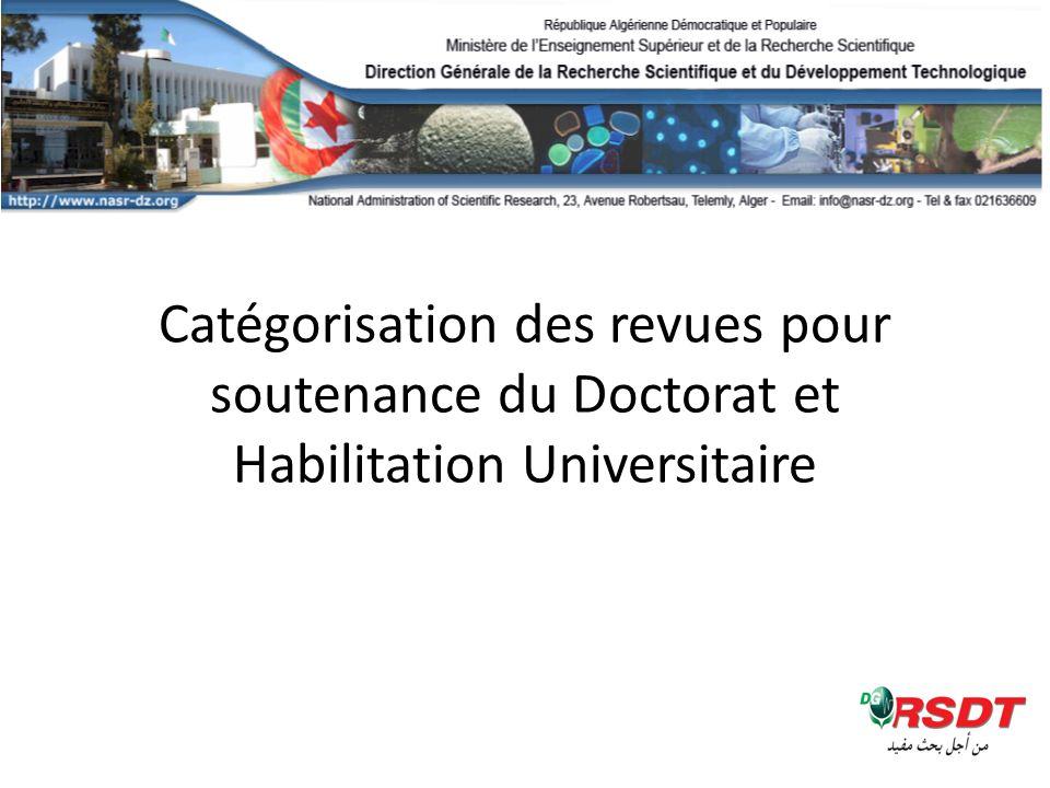 Soutenance dHabilitation Universitaire Science et Technologie : 26 établissements.