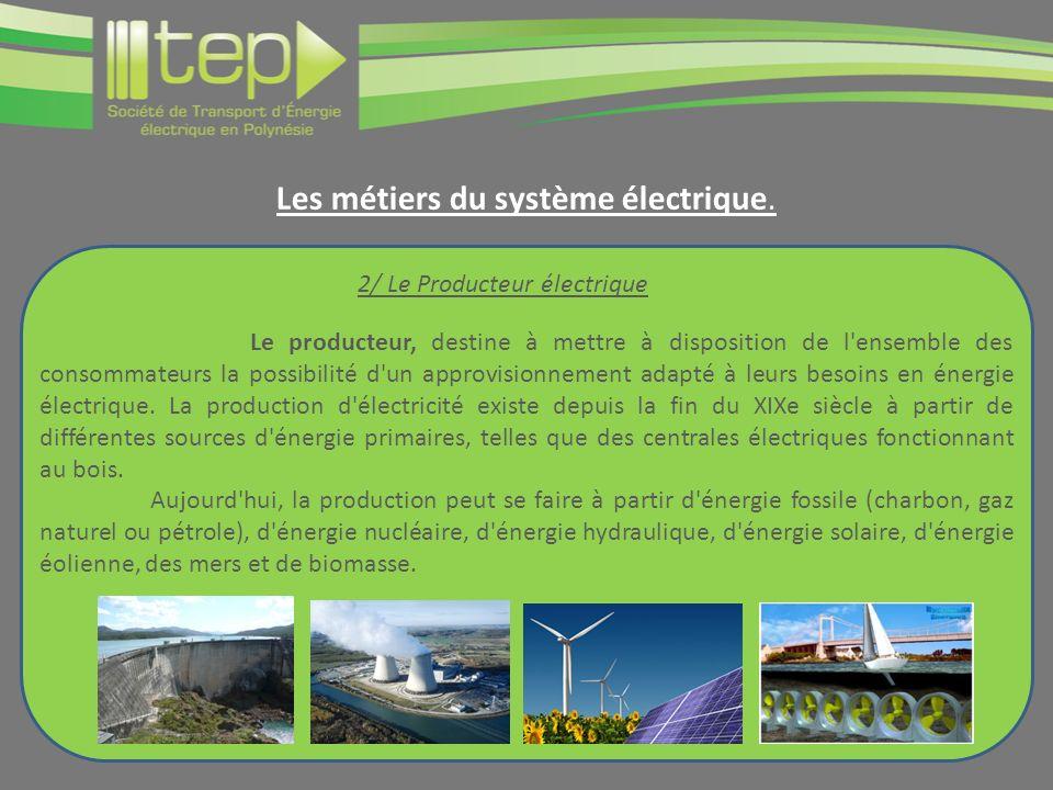 Le producteur, destine à mettre à disposition de l ensemble des consommateurs la possibilité d un approvisionnement adapté à leurs besoins en énergie électrique.