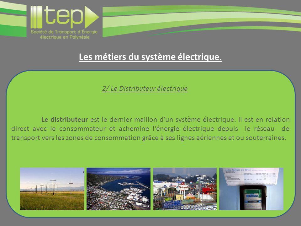 Le distributeur est le dernier maillon dun système électrique. Il est en relation direct avec le consommateur et achemine l'énergie électrique depuis