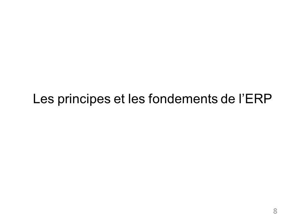Les principes et les fondements de lERP 8
