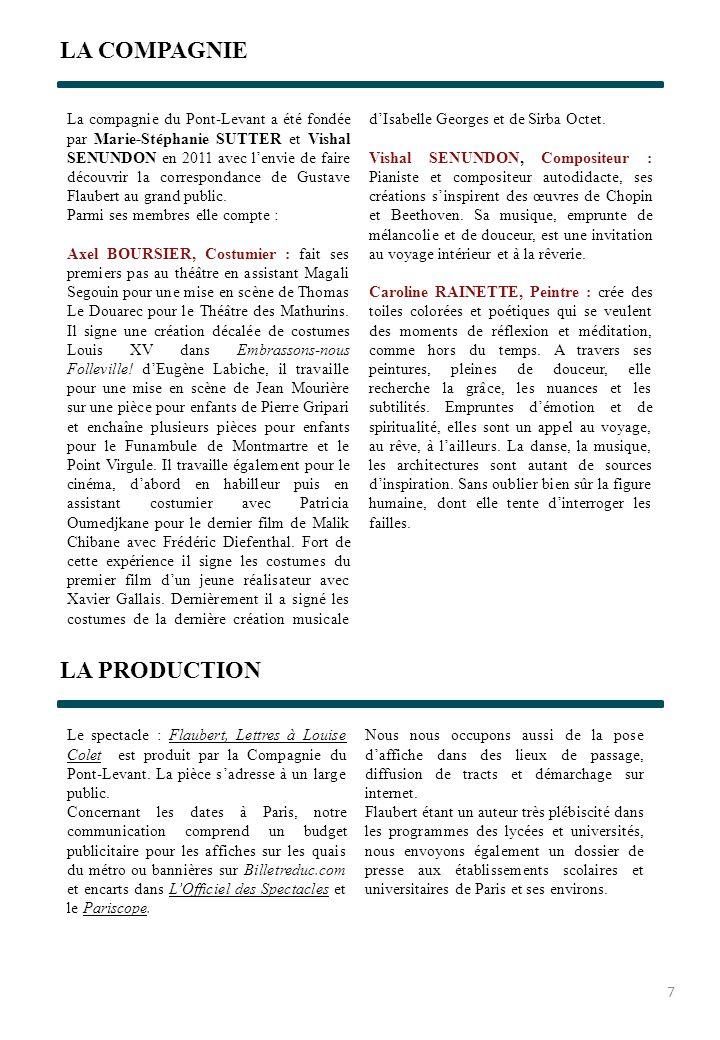 LA COMPAGNIE La compagnie du Pont-Levant a été fondée par Marie-Stéphanie SUTTER et Vishal SENUNDON en 2011 avec lenvie de faire découvrir la correspo