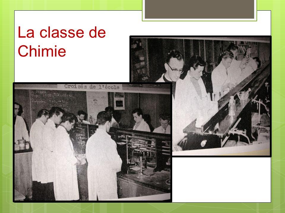 La classe de Chimie