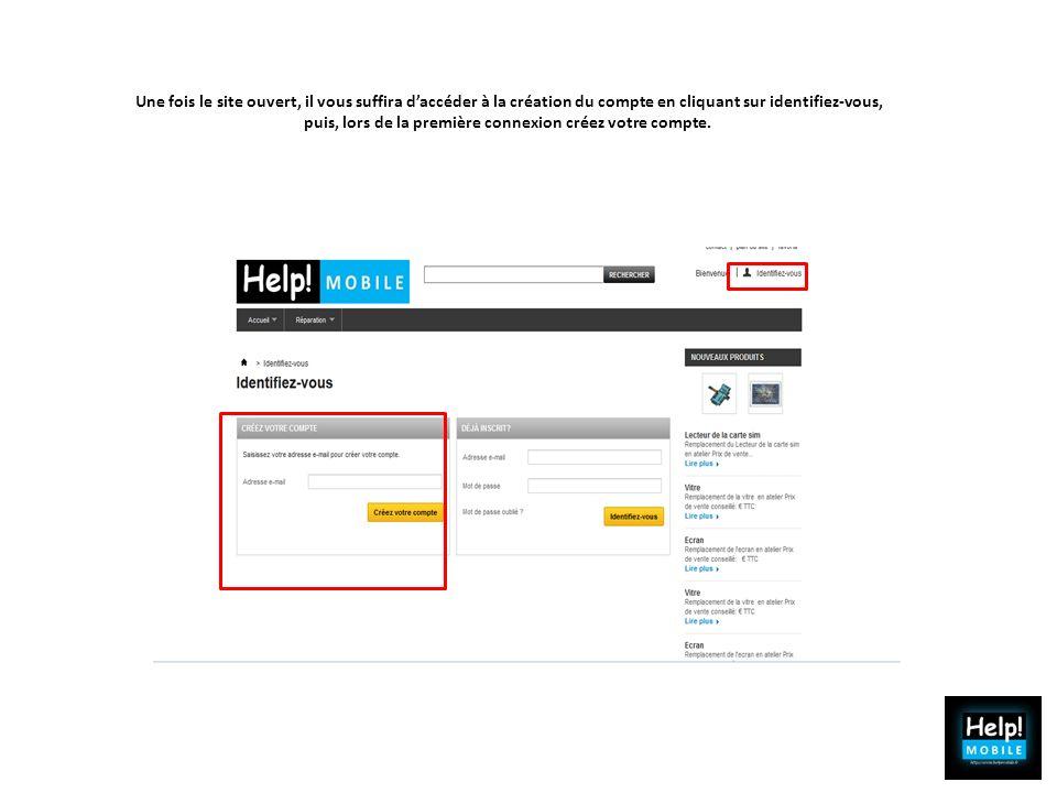 Une fois le site ouvert, il vous suffira daccéder à la création du compte en cliquant sur identifiez-vous, puis, lors de la première connexion créez v