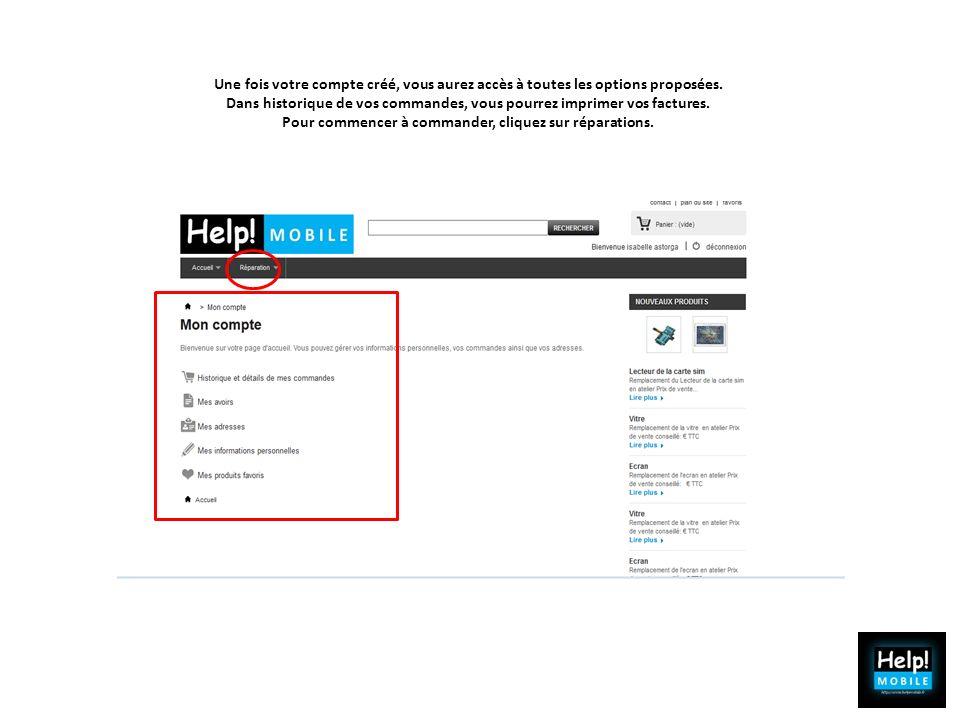 1 Noter les renseignements CLIENTS sur le Bloc prise en charge, 2 Regarder le tarif public sur le site www.Help-mobile.fr.www.Help-mobile.fr 3 Faire payer la réparation, 4 Proposer un mobile de courtoisie.