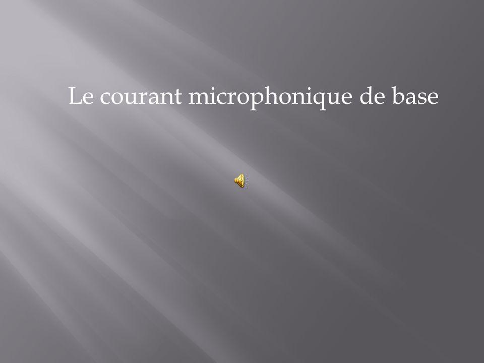 Le courant microphonique de base