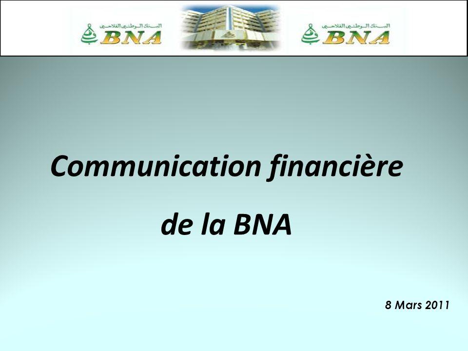 Communication financière de la BNA 8 Mars 2011