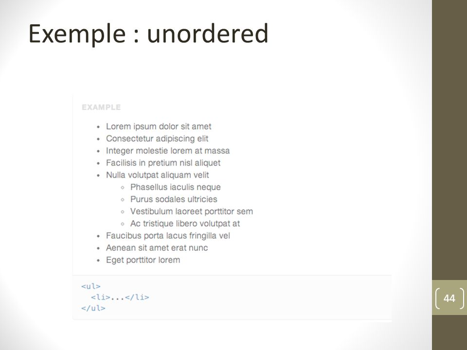 44 Exemple : unordered