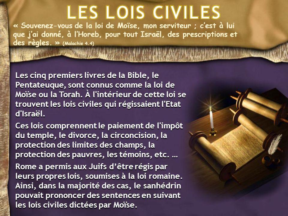« Souvenez-vous de la loi de Moïse, mon serviteur ; cest à lui que jai donné, à lHoreb, pour tout Israël, des prescriptions et des règles.