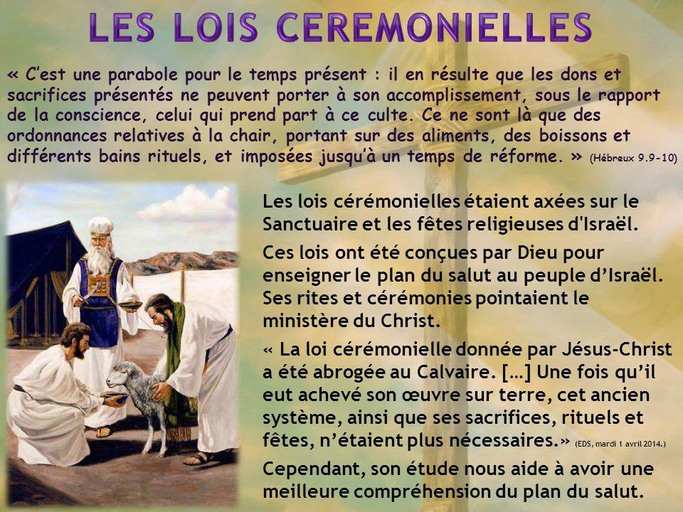 « Cest une parabole pour le temps présent : il en résulte que les dons et sacrifices présentés ne peuvent porter à son accomplissement, sous le rapport de la conscience, celui qui prend part à ce culte.