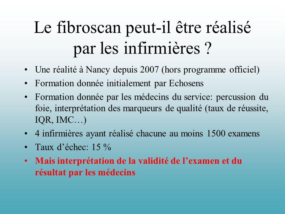 Le fibroscan peut-il être réalisé par les infirmières ? Une réalité à Nancy depuis 2007 (hors programme officiel) Formation donnée initialement par Ec