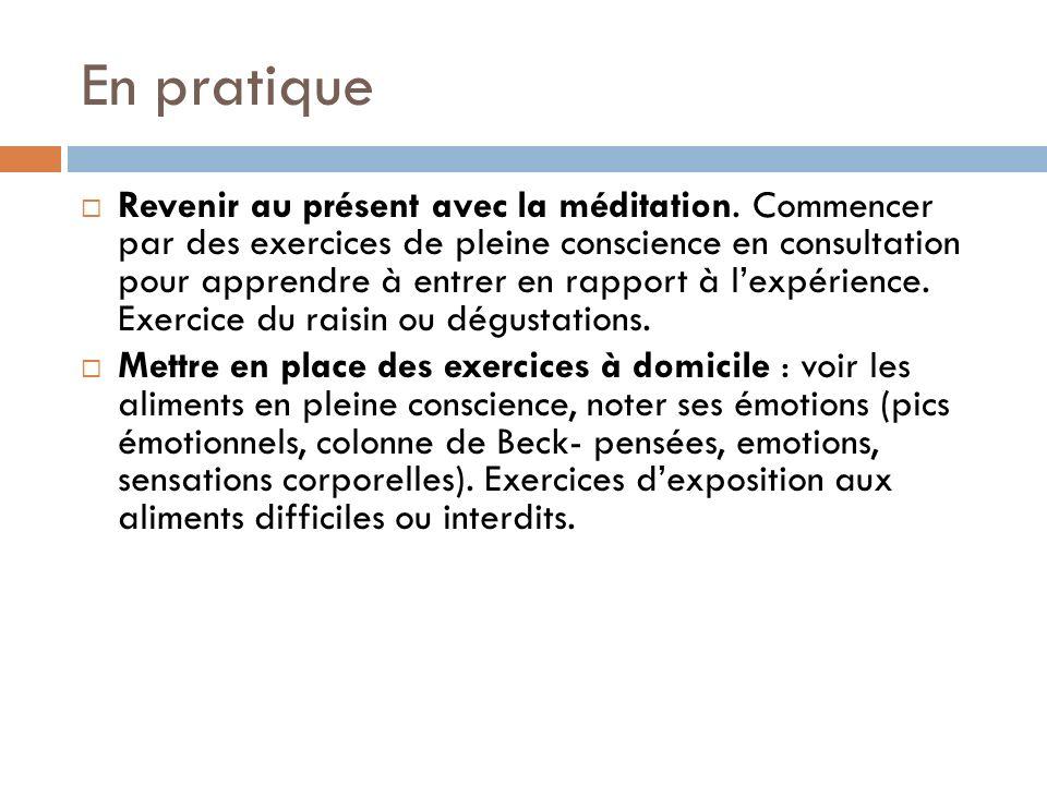 En pratique Revenir au présent avec la méditation. Commencer par des exercices de pleine conscience en consultation pour apprendre à entrer en rapport