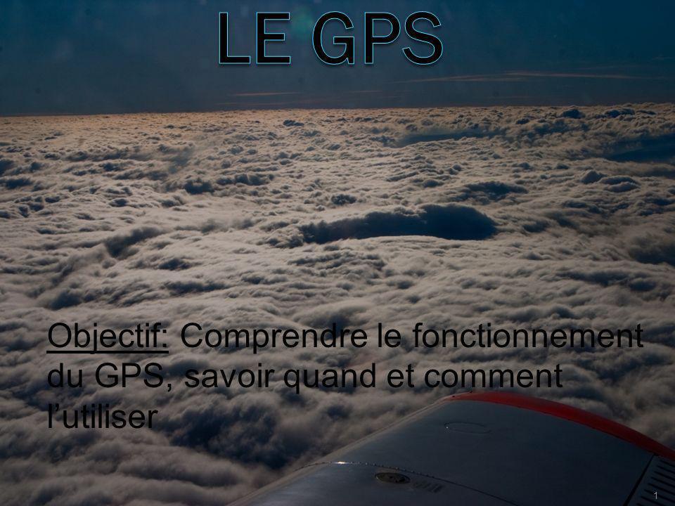 Objectif: Comprendre le fonctionnement du GPS, savoir quand et comment lutiliser 1