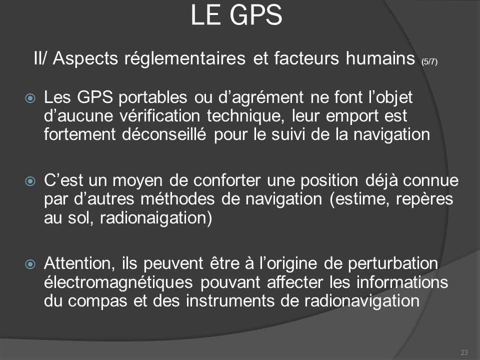 LE GPS Les GPS portables ou dagrément ne font lobjet daucune vérification technique, leur emport est fortement déconseillé pour le suivi de la navigat