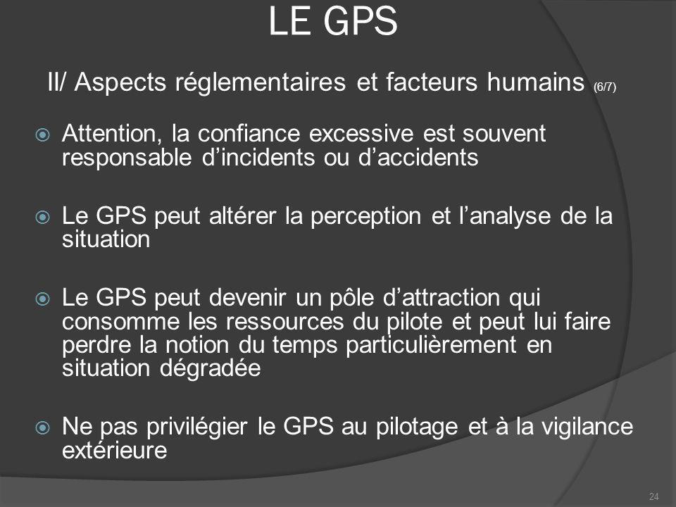 LE GPS Attention, la confiance excessive est souvent responsable dincidents ou daccidents Le GPS peut altérer la perception et lanalyse de la situatio