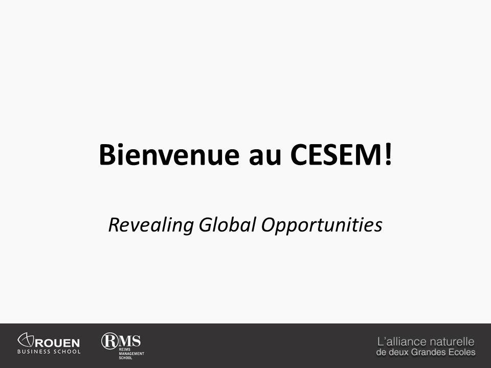 Bienvenue au CESEM! Revealing Global Opportunities
