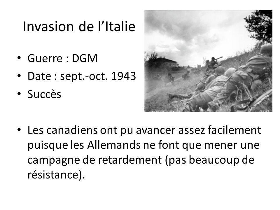 Invasion de lItalie Guerre : DGM Date : sept.-oct.