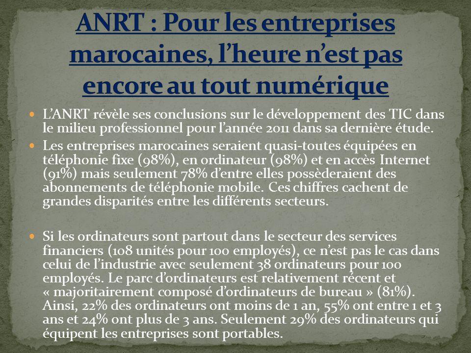 LANRT révèle ses conclusions sur le développement des TIC dans le milieu professionnel pour lannée 2011 dans sa dernière étude.