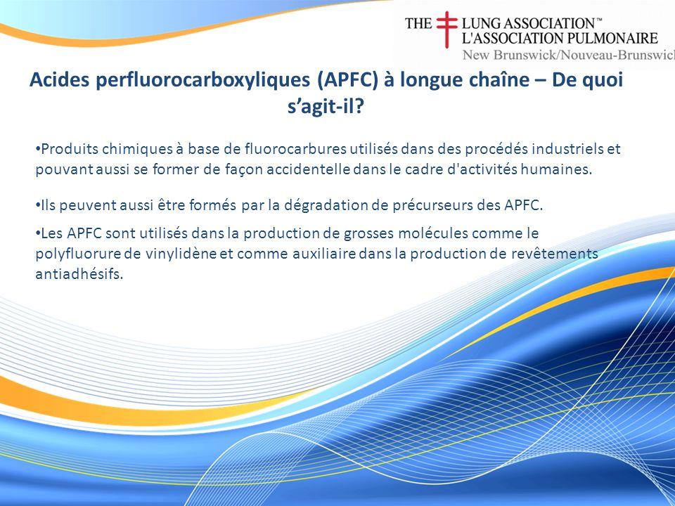Acides perfluorocarboxyliques (APFC) à longue chaîne – De quoi sagit-il? Produits chimiques à base de fluorocarbures utilisés dans des procédés indust