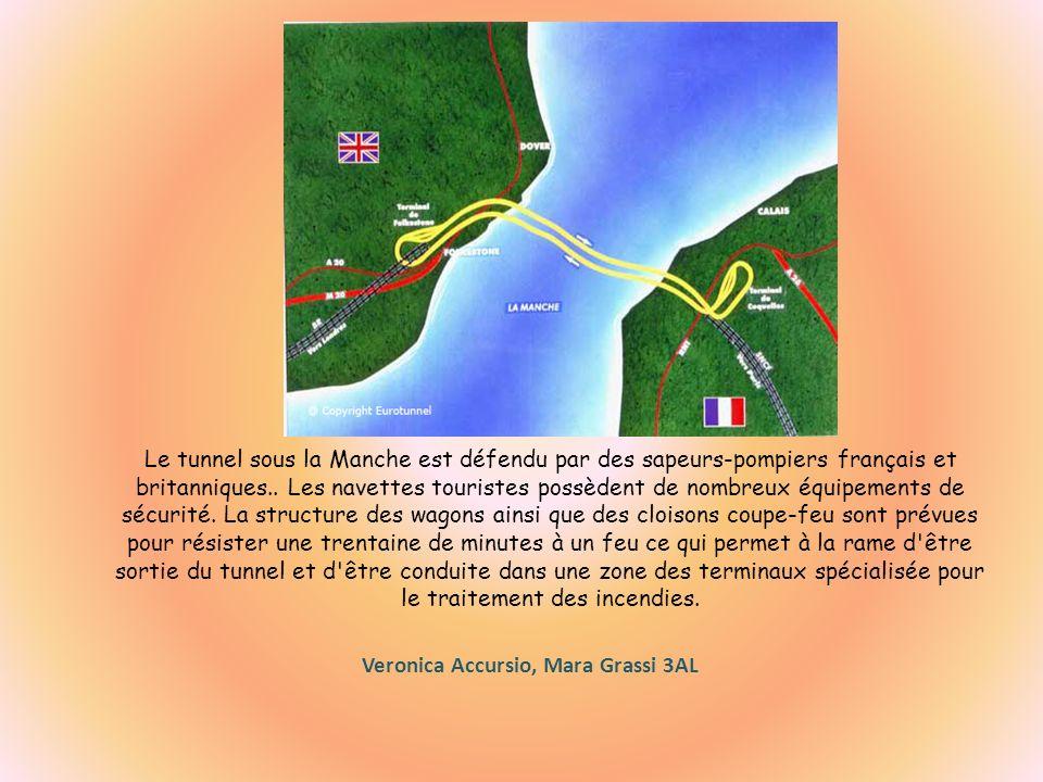 Le tunnel sous la Manche est défendu par des sapeurs-pompiers français et britanniques.. Les navettes touristes possèdent de nombreux équipements de s