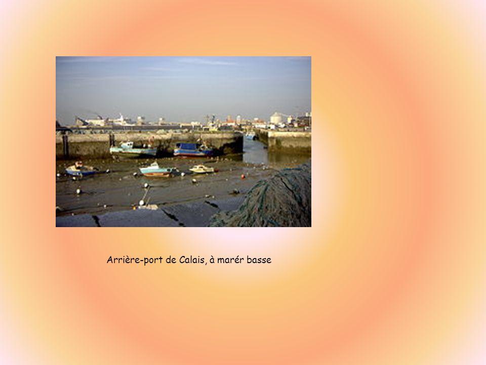 Arrière-port de Calais, à marér basse