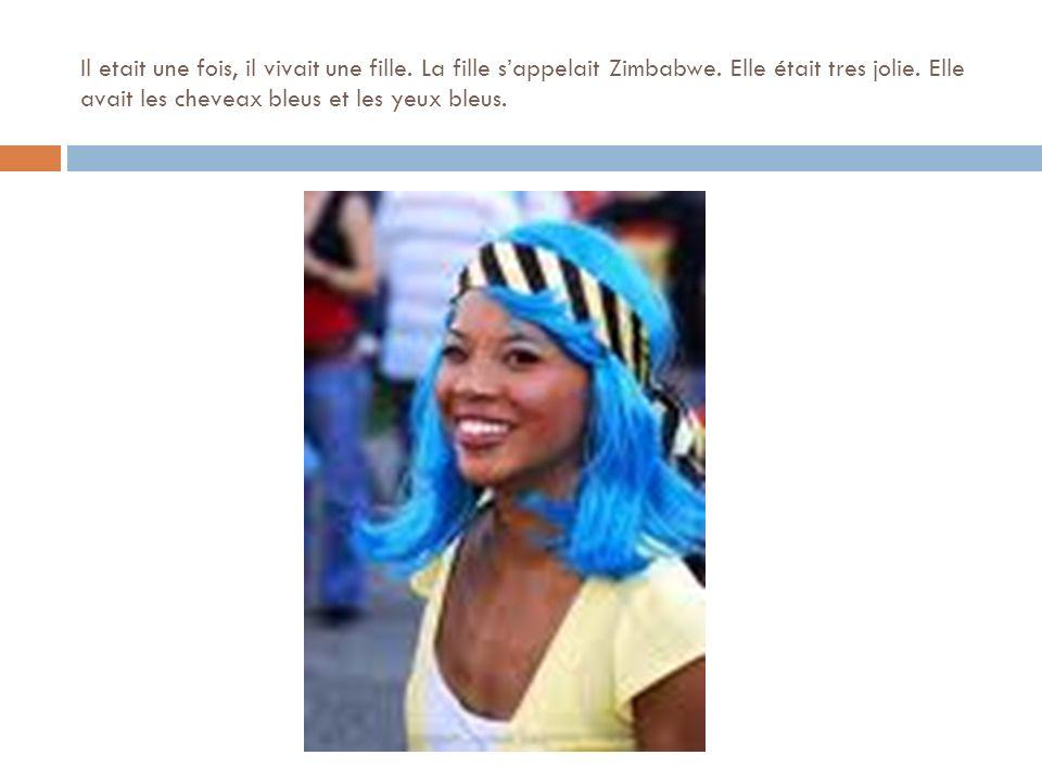 Il etait une fois, il vivait une fille. La fille sappelait Zimbabwe.