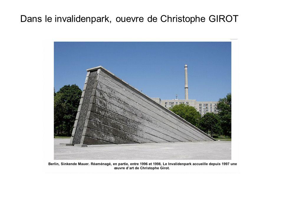 Dans le invalidenpark, ouevre de Christophe GIROT