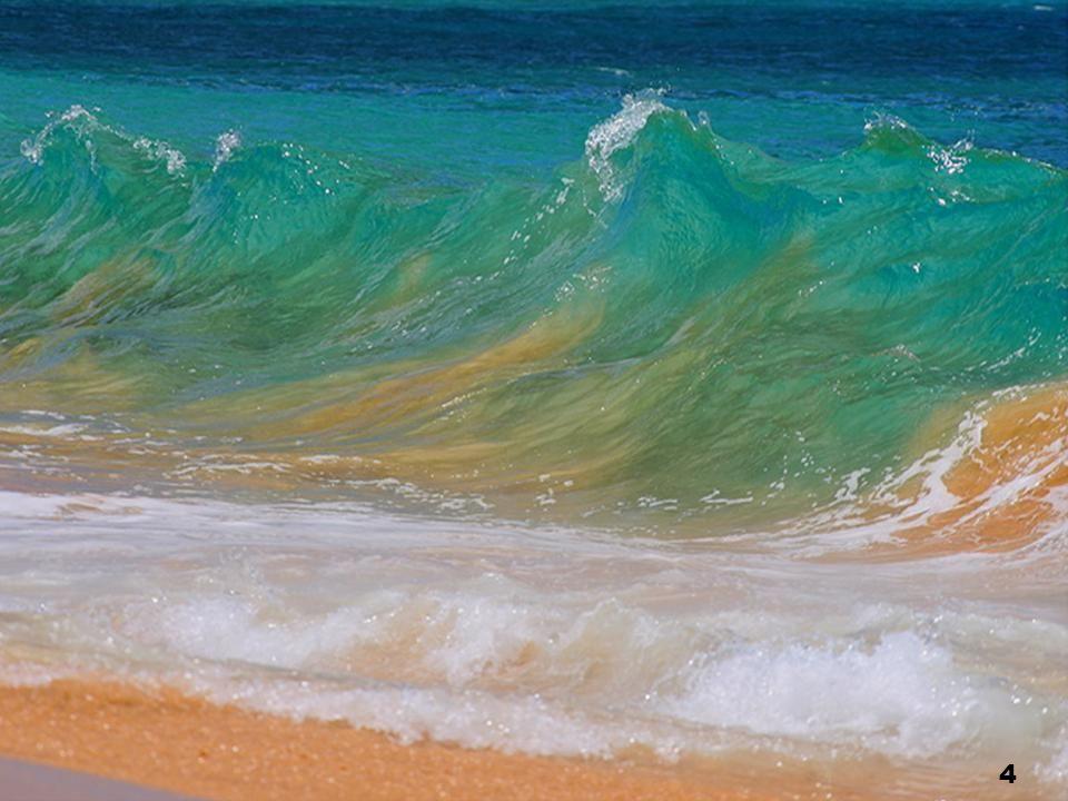 Du bleu, du vert, Couleur de mer, Un peu de sable et de poussière, Faut tant de choses Pour faire le monde !