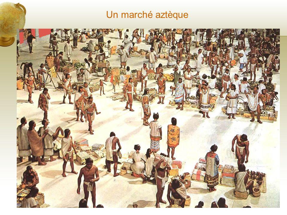 Un peu dhistoire... La civilisation aztèque sest développée à partir du 14ème siècle et a terminé au 16ème siècle avec larrivée des Conquistador espag