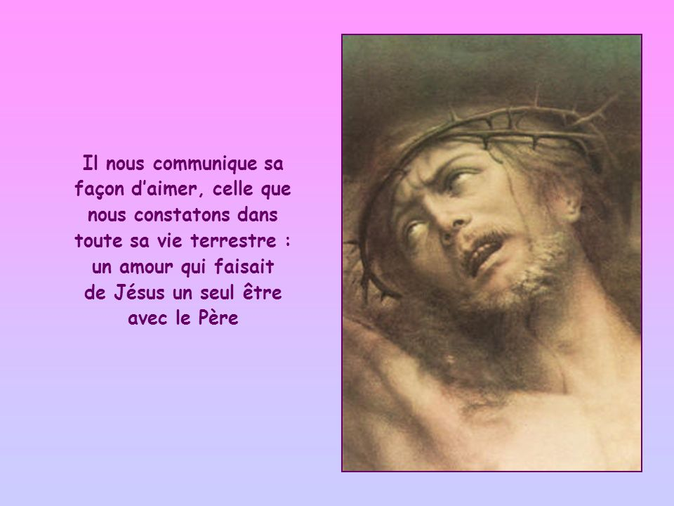 Cependant, cette expression peut aussi sinterpréter ainsi : vivre ses commandements construit en nous un amour qui est celui de Jésus lui-même.