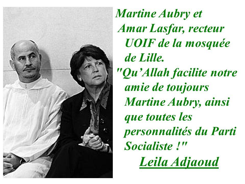 Martine Aubry et Amar Lasfar, recteur UOIF de la mosquée de Lille.