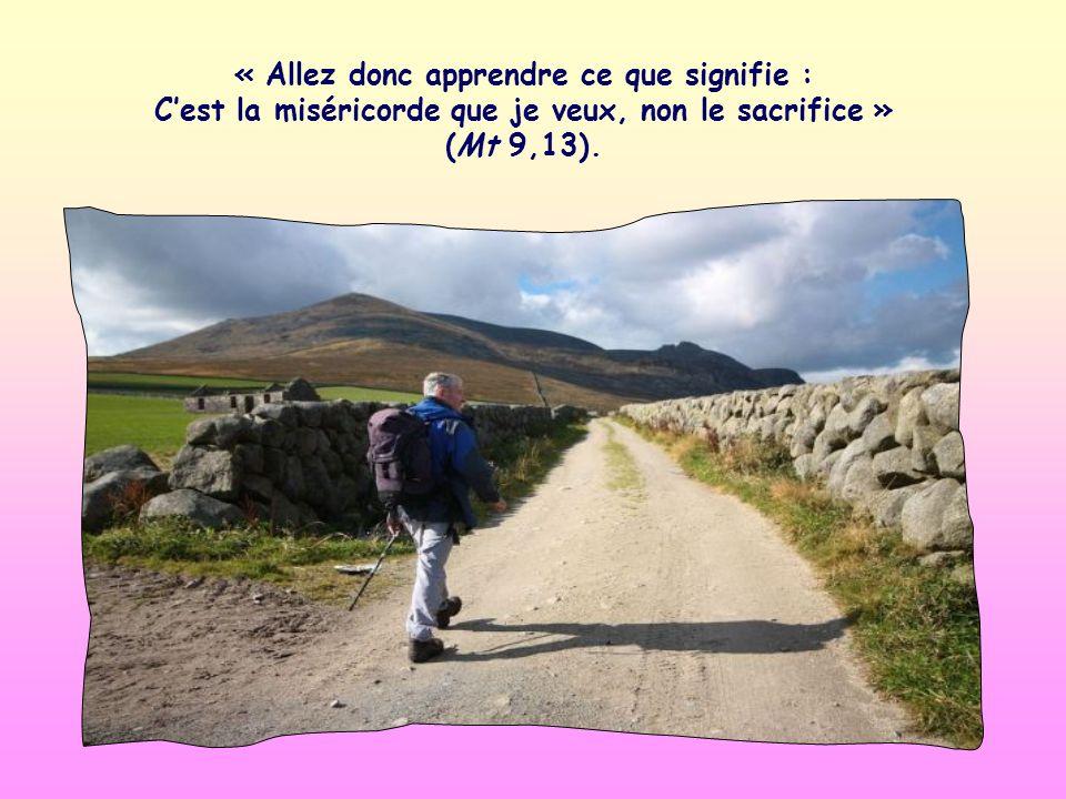 « Allez donc apprendre ce que signifie : Cest la miséricorde que je veux, non le sacrifice » (Mt 9,13).