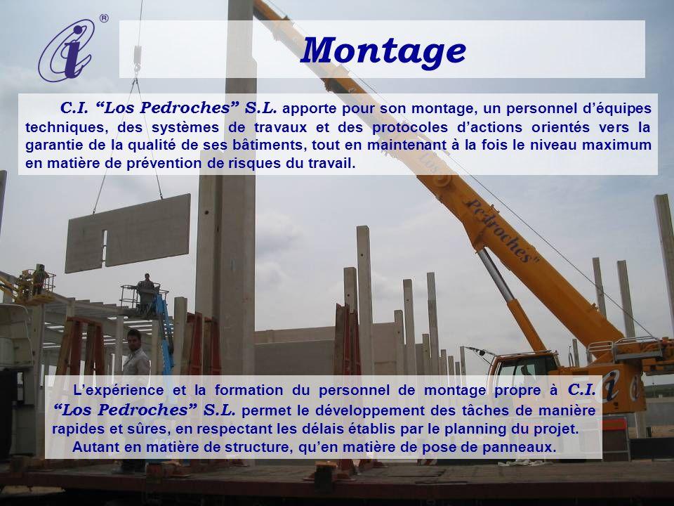 Montage C.I. Los Pedroches S.L. apporte pour son montage, un personnel déquipes techniques, des systèmes de travaux et des protocoles dactions orienté
