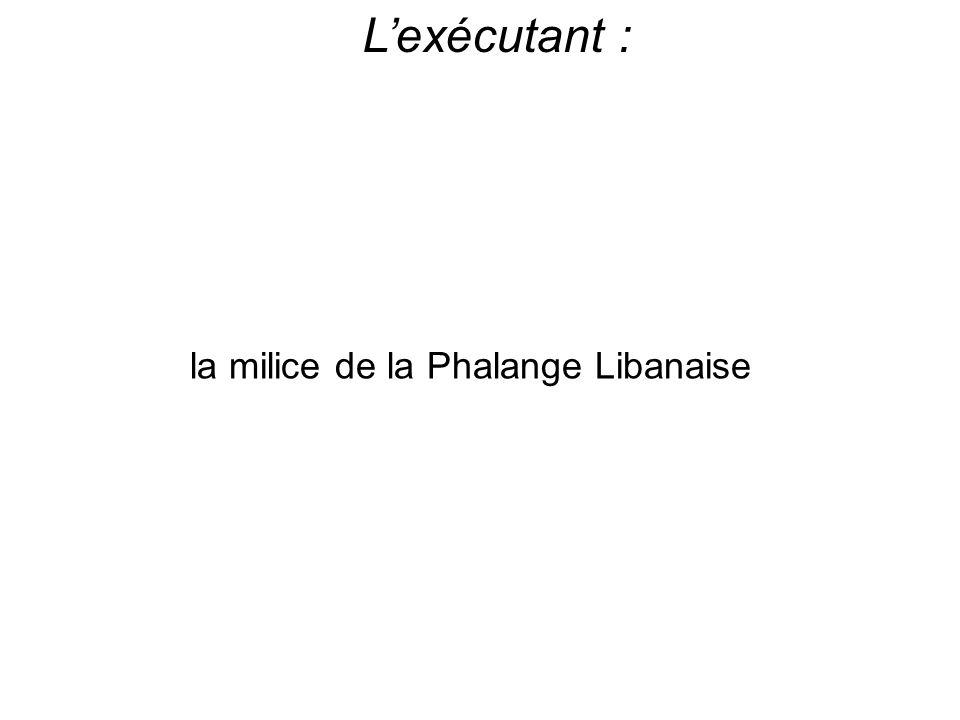 Lexécutant : la milice de la Phalange Libanaise