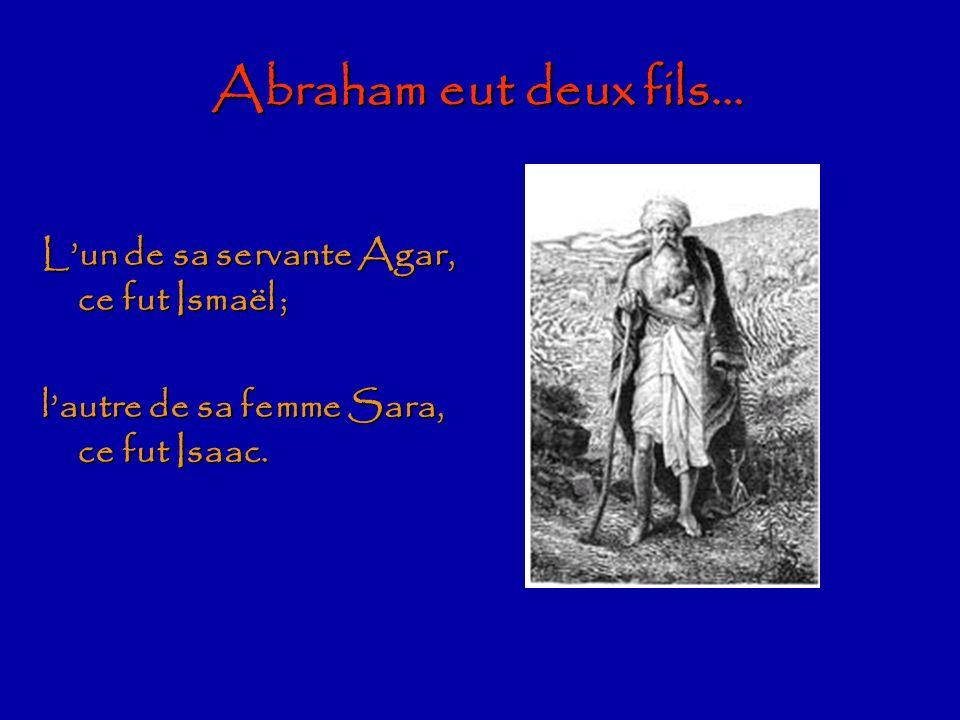Ismaélites 12 fils IsmaëlIsaac Agar AbrahamSara Agar AbrahamSara Les origines bibliques de lIslam