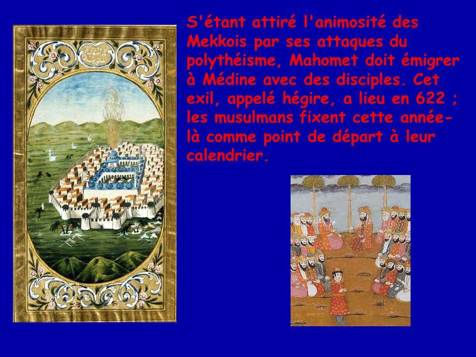 A Médine, Mahomet fut reconnu comme chef religieux et militaire.